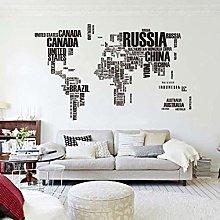 Adesivo murale mappa del mondo ufficio decorazione