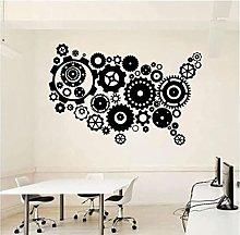 Adesivo murale Mappa dell'ufficio Adesivo