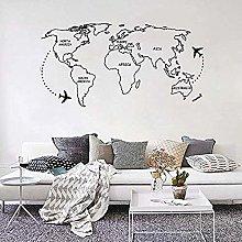 Adesivo Murale Mappa Mondo Adesivo Murale Nero