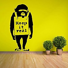 adesivo murale mondo Bansky Monkey Keep It Real