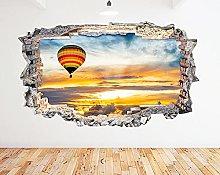 Adesivo murale Mongolfiera Ocean Sunset Smash
