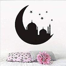 Adesivo murale Moschea lunare Camera da letto