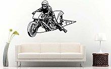 Adesivo Murale Moto Drag Racing Moto Bike Adesivo
