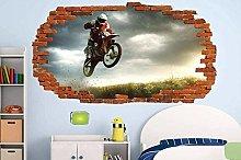 Adesivo Murale Motocross Adesivo Murale Moto Moto