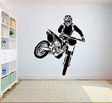 Adesivo murale motocross dirt bike adesivo murale