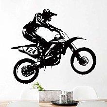 Adesivo murale motocross home art decalcomania