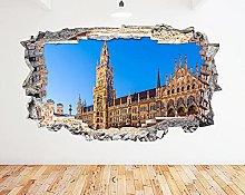 Adesivo murale Munich City Germany Night Smash