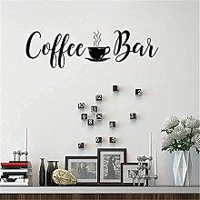 Adesivo Murale Murale Classic Art Decal Coffee Bar