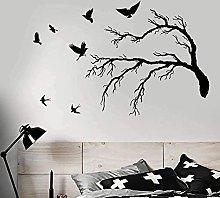 Adesivo murale Murale Divertente Bird Branch Style