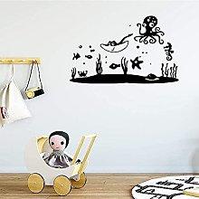 Adesivo Murale Murale Underwater Art World Baby