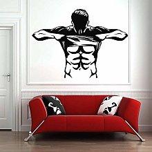 Adesivo Murale Muscolare Palestra Finestra In