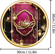 Adesivo murale musulmano circolare impermeabile