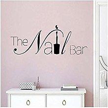 Adesivo Murale Nail Bar Adesivo Natalizio Pvc