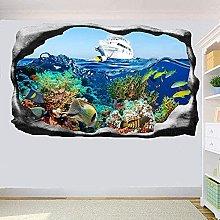 Adesivo murale Naturale Tropical Sea Pesce Wall