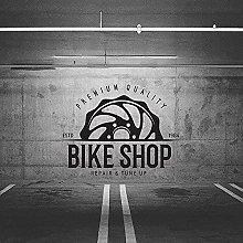 Adesivo murale negozio bici garage negozio