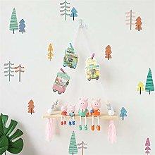Adesivo murale nordico semplice albero di cartone