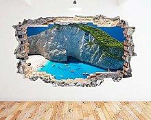 Adesivo murale Ocean Beach Mountain Bay Smash