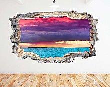 Adesivo murale Ocean Cloud Red Purple Blue Smash