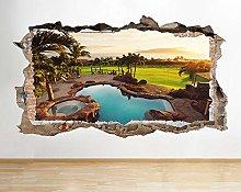 Adesivo murale Ocean Sunset Landscape Palm Tree