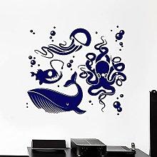 Adesivo murale Ocean Whale Octopus Meduse Ocean