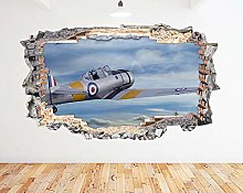 Adesivo murale Old Fighter Flying Blue Sky Smash