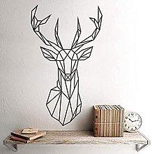 Adesivo murale Origami Testa di cervo geometrica