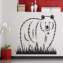 Adesivo Murale Orso Ed Erba Decorazione Murale Per