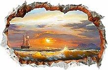 Adesivo Murale Paesaggio Marino Pittura Decorativa