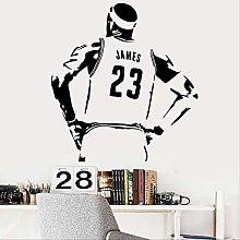 Adesivo Murale Pallacanestro Star Lakers Lebron