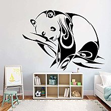 Adesivo Murale Panda Animale Scuola Materna