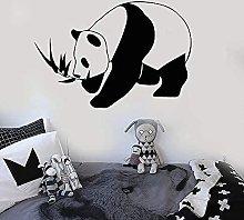 Adesivo Murale Panda Orso Animale Camera Per