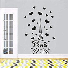 Adesivo murale Parigi Francia Torre Amore cuore