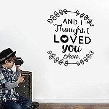 Adesivo murale Pensavo di amarti, quindi adesivo