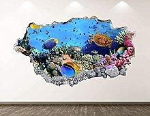 Adesivo murale per acquario Decorazione artistica