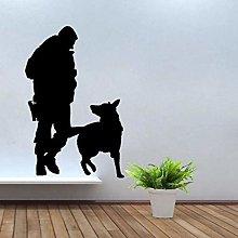 Adesivo Murale Per Cani Di Polizia E Di Servizio