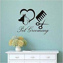 Adesivo murale per cani Pet Grooming Salon Shop