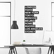 Adesivo Murale Per Città Del Mondo Azienda