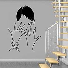 Adesivo murale per salone moderno Adesivo murale