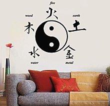 Adesivo murale Personaggi cinesi orientali Yin