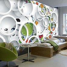 Adesivo murale personalizzato 3D Cerchi di frutta