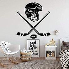 Adesivo murale personalizzato da hockey in vinile