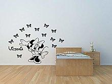 Adesivo murale personalizzato Minnie mouse adesivo