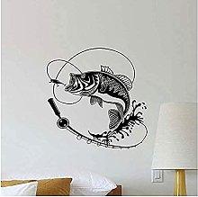 Adesivo murale pesca adesivo da parete gancio