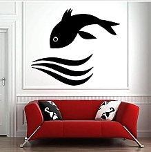 Adesivo Murale Pesce Decalcomania Murale Art Deco