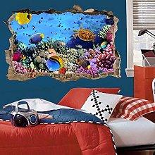 Adesivo murale pesci tropicali 3D Look Ocean