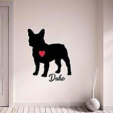 Adesivo murale Pet nome personalizzato Bulldog