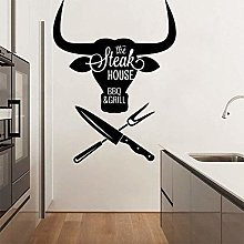 Adesivo murale Pittura murale Fai da te Steak