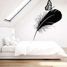 Adesivo murale piuma Adesivo murale farfalla