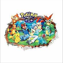 Adesivo Murale, Pokemon 3D Passa Attraverso