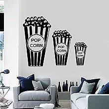 Adesivo murale Popcorn Amante del cinema TV Cinema